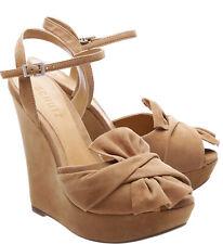 6d8d15299f21 Schutz Pops Amber Light Brown Nude Twisted knot platform wedge sandal Pumps
