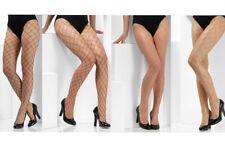 Diamond Fishnet Tights Ladies Criss Cross Fancy Dress Accessory One Size