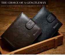 Luxury Brand Men Wallets Cow Leather Genuine Zipper - Vintage Hasp Wallet