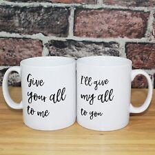 John Legend All of Me Song Lyrics Print Personalised Anniversary Gift Mugs