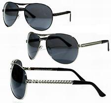 Sonnenbrille 70 er 80er Hamburger Rotlicht Kiez Pilotenbrille Schwarz Silber XL