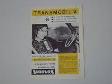 advertising Pubblicità 1960 AUTOVOX TRANSMOBIL 2