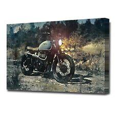 LARGE OLD TRIUMPH MOTORCYCLE CANVAS PRINT EZ1416