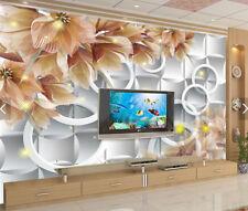 3D Flower Ring 849 Wallpaper Mural Paper Wall Print Wallpaper Murals UK Carly