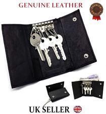 Genuine Leather Keychains Men Women Accessories Pouch Bag Wallet 6 Key unisex