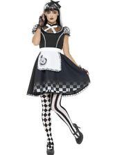 Gothic Alice Costume Ladies Wonderland Fairytale Halloween Adult Fancy Dress