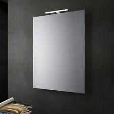 Specchio bagno o soggiorno reversibile con lampada led 30 cm da 80x60 cm