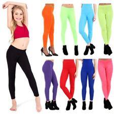 Kids and Teen Girls full length Party Wear stretchy plain leggings