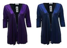 BNWT New Glitzy Blue Purple Black Cardi Open Front Jacket Womens *LICK*