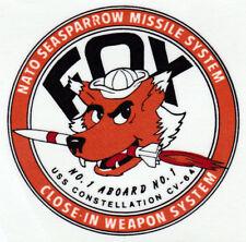USN US NAVY USS CONSTELLATION CV-64 NATO SEASPARROW FOX CUSTOM MUG CUP STEIN