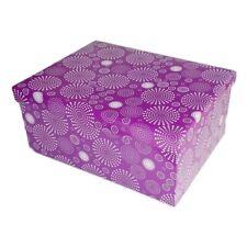 """Geschenkbox """"Circles"""" violett Geschenkkarton Kartonage Aufbewahrung Schachtel"""