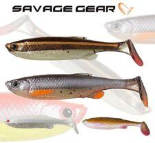 Savage Gear Fat T-Tail Minnow 3pcs Soft Plastic Bait Jig Head Lure Fishing Pike