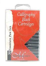 30 Manuscript Calligraphy Pen Ink Cartridges - International - Black or Assorted
