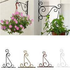 Plant Bracket Hook Plant Hanger Iron Flower Pot Holder Wall Mountable Decor ONE