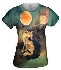 "Yizzam - Japanese Art - ""Moon on Musashi Plain""- New Womens Top Women Tshirt Tee"