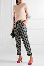 NWT £120 Designer J.CREW French Foulard Printed SILK PANTS - UK 8 - 20