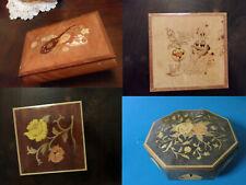 ITALIAN INLAY VANITY BOX JEWELRY MUSIC BOX MID CENTURY PICK ONE