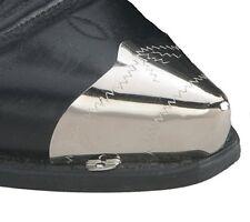 Stiefelspitze oder Stiefelhacke Westernstiefel handgraviert silber plattiert