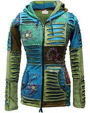 Da Donna Classic Rib Felpa Con Cappuccio Giacca Multicolore tagliato Hippy Tops