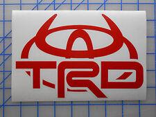 "Large Toyota TRD Horns Emblem Sticker Decal 12""x8"" Off Road Tundra Tacoma FJ"