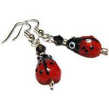 Whimsical Glass Ladybug Earrings By SoniaMcD