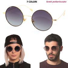 8446adc5b4a lunettes de soleil Sun Lovers 17014 Rond Métal acier rétro verre polarisé