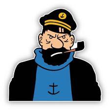 Captain Haddock Cartoon Sticker Decal laptop wall car phone Kids Tintin