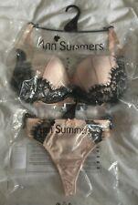 Ann Summers Katya Padded Plunge Bra & Thong / Brief Set D - H Cup  RRP £40+ BNWT