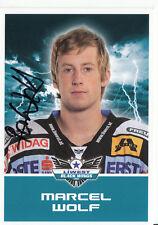 Marcel Wolf Black Wings Linz 2011-12 TOP AK Orig. Sign. Eishockey +A38202