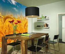 3D Blé Doré 51 Photo Papier Peint en Autocollant Murale Plafond Chambre Art