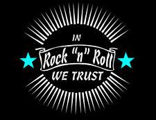Rock & Roll camiseta Y Eje De Balancín Greaser Estilo 50s Años 50 Rockabilly