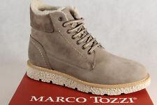Marco Tozzi BOTAS MUJER 26255 Botas botines botas de cordón gris topo NUEVO