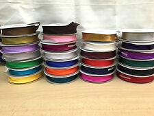 "Sesgo de nylon de satén vinculante cinta 20mm (3/4"") de ancho 1m, 5m, 10m y 25m, Publica Gratis!"
