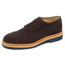 E4612 scarpa inglese uomo brown SAX scarpe suede shoe man