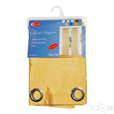 Store VIRGINIA Effet Soie Satin 1 Panneau Médaille d'or avec 140x290 cm SARANI
