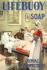 World War One Lifebuoy Soap Advertisement Poster A3/A2 Print
