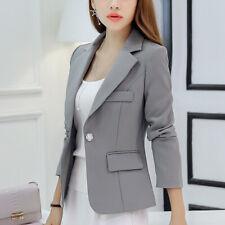 Spring Women's Korea Stylish Blazer Suit Coat Slim Fit One Button Casual Suit