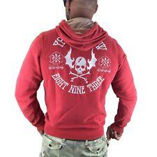 """YAKUZA - Herren Hoodie HOB 7022 """"Flying Skull"""" ribbon red (rot)"""