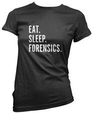 eat sleep forensik-science pathology student damen t-shirt