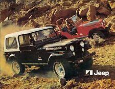 Jeep CJ Cherokee Wagoneer J10 J20 Truck 1977 UK & Export Markets Sales Brochure