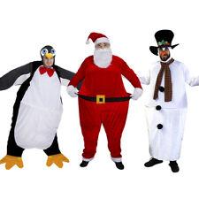 CHRISTMAS FAT SUIT FANCY DRESS UNISEX NOVELTY COSTUMES PENGUIN SANTA SNOWMAN ELF