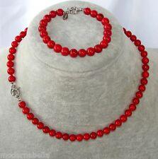 Perle rosso scuro naturale Collana,bracciale,braccialetto,girocollo da donna