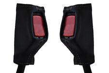 grey stitch FITS TRIUMPH DOLOMITE 72-81  2X FRONT SEAT BELT STALK LEATHER COVERS