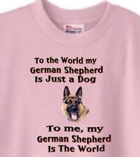 Dog T Shirt - To me my German Shepherd Is The World - Adopt Animal Men Women # 8