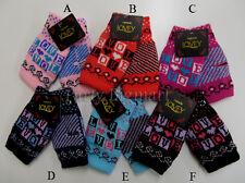 Knitting Warm Mittens Fingerless Computer Gloves Winter Hand Warmer 6 Colors-AU
