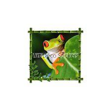 Sticker mural déco bambou Grenouille réf 900