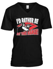 I'd Rather Be At The Range Shooting Rifle Gun Arms Mens V-neck T-shirt
