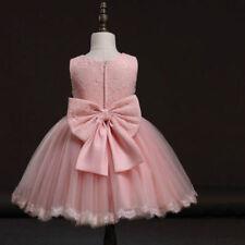 Boda Vestido de niña con Flores Infantil fiesta dama honor encaje princesa