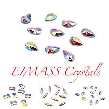 Hot Fix Shapes, EIMASS® 7737 Tiny Cut Glass Rhinestones, Flat Back Crystals Gems