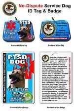 Service Dog ID Tag and Badge PTSD custom photo id card pet tag custom made